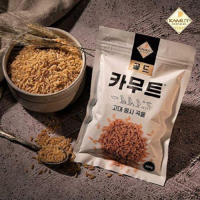 [KAMUT](방송에서만 카무트 티 20매 증정) 고대곡물 골드 카무트 300g x 32봉 (총 9.6kg)