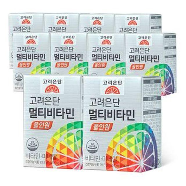 고려은단 종합비타민 올인원 20개월+쇼핑백 4장